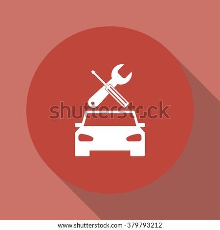 car service icon Flat design style eps 10 - stock vector