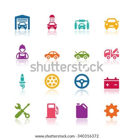 Car service icons - stock vector