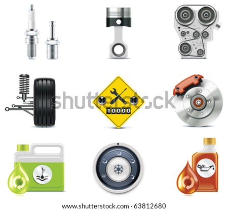 Car service icons. Part 3 - stock vector