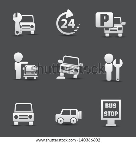 Car service icons,vector - stock vector