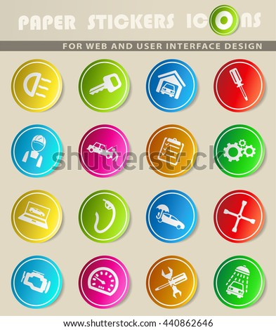 Car service simply symbol for web icons