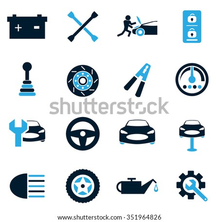 Car service symbol for web icons