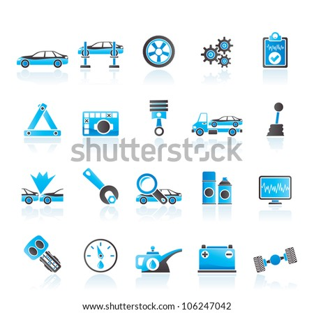 car services and transportation icons - vector icon set - stock vector