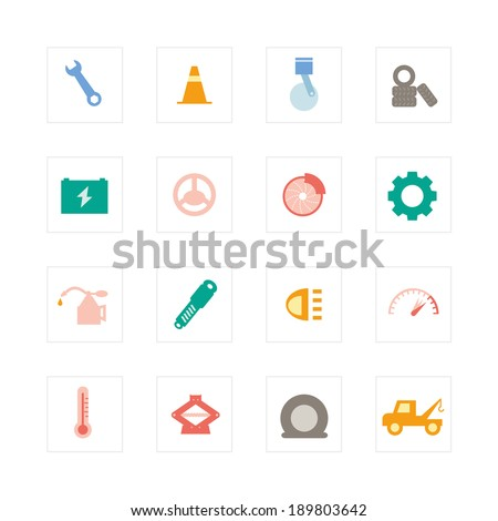 Car Services icon set. Designed for illustration, infographics, web icon, report, presentation, template and more in your business - stock vector