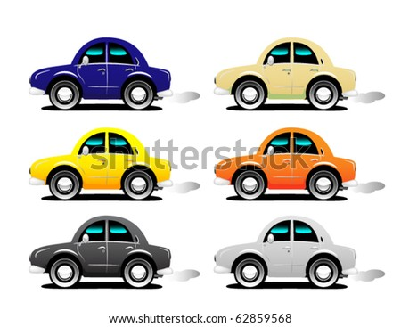 Car set - stock vector