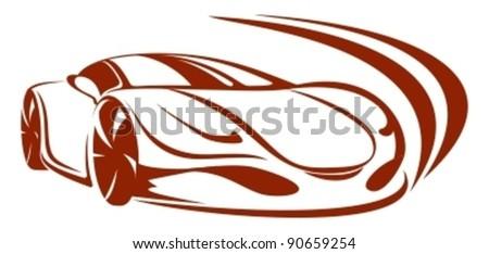 Car silhouette - stock vector