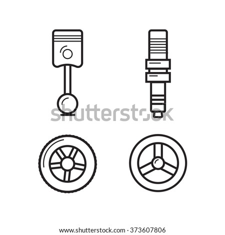 Car spare parts - stock vector