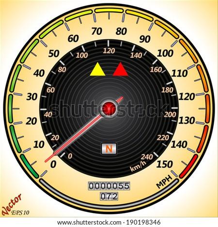 Car Speedometer - stock vector