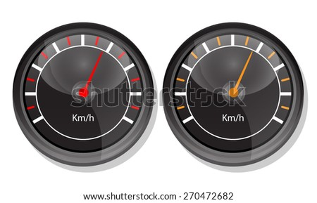 Car Speedometer Dashboard. Vector - stock vector