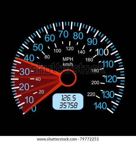 car speedometer for racing design. - stock vector