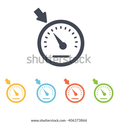 Car speedometer icon - stock vector