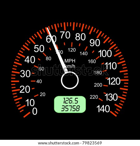 car speedometers for racing design. - stock vector