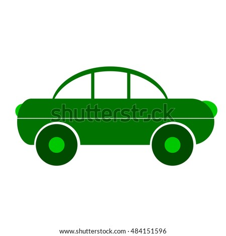 Car symbol sign on white background. Vector illustration.