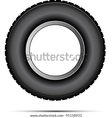 car tire vector - stock vector
