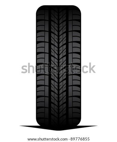 Car tyre - tire - stock vector