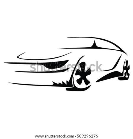 Simple Icon Car Silhouette Design 318007604