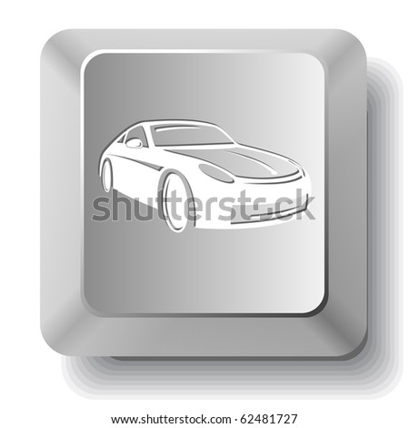 Car. Vector computer key. - stock vector