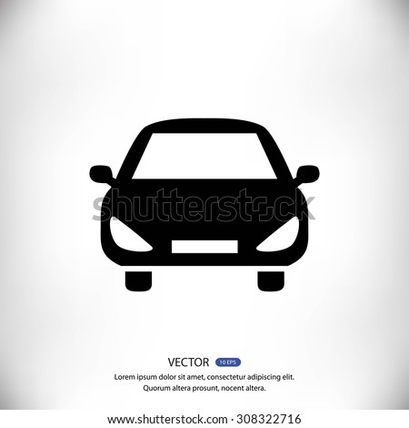 car vector icon - stock vector