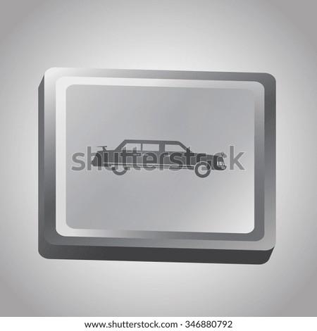 Car vector illustration. Flat design style - stock vector