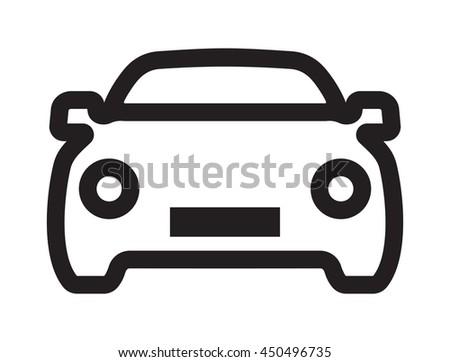 car vector outline icon stock photo photo vector illustration rh shutterstock com car light icon vector car vector icon