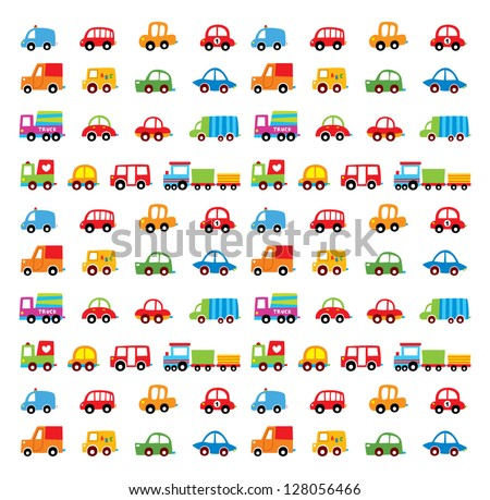 car vector wallpaper - stock vector