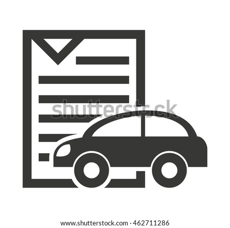 car vehicle silhouette icon vector illustration design