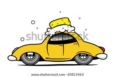 Car wash - stock vector