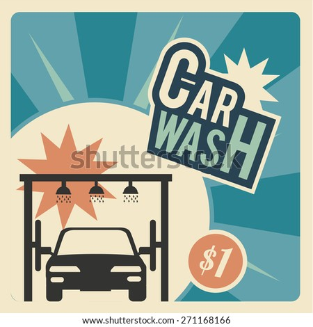 Car Wash, front of a  automotive within the system