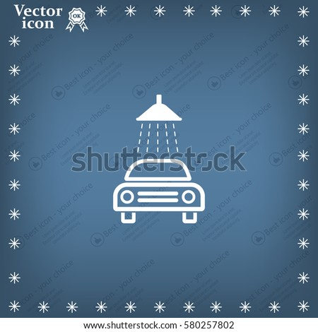 Vector icon car wash blueprint style stock vector 411145738 car wash icon malvernweather Images