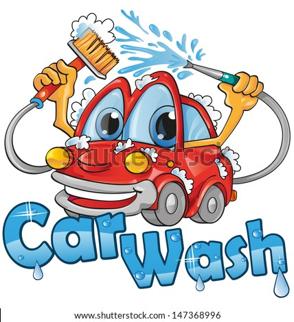 car wash service - stock vector