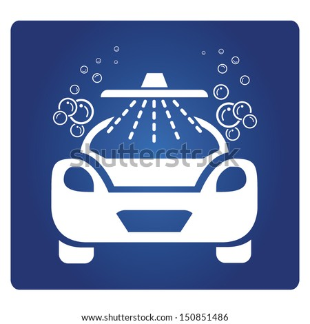 car wash symbol - stock vector