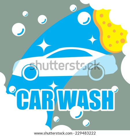 Car wash vector - stock vector