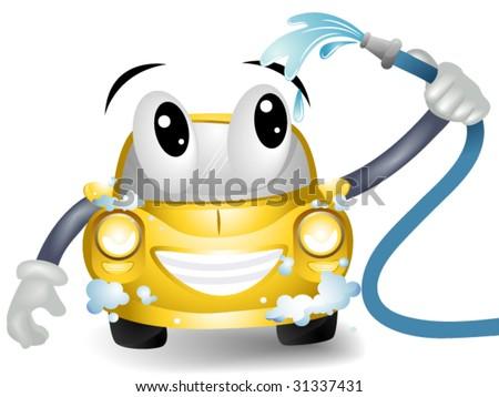 Car Wash - Vector - stock vector