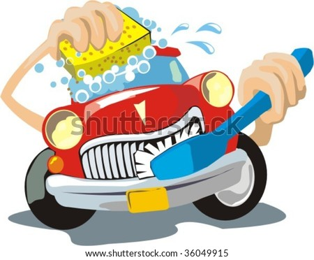car washtd - stock vector