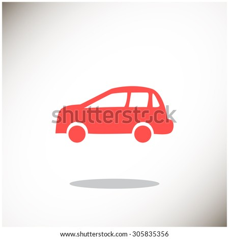 car Web icon. vector design - stock vector
