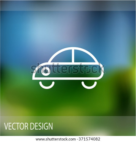 car Web icon. vector design