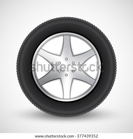 Car wheel. vector illustration.