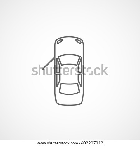 open door clipart black and white. Car With Open Door Line Icon On White Background Clipart Black And