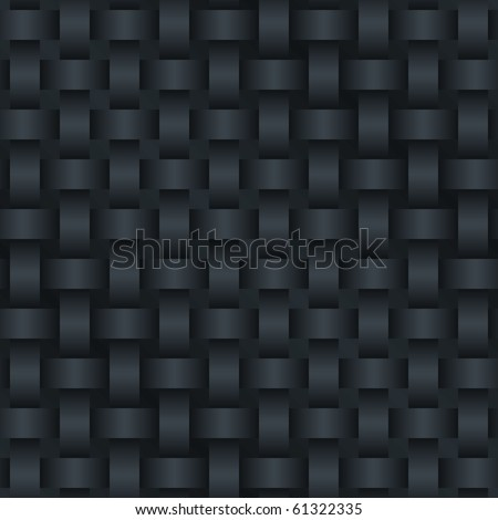 Carbon background (editable seamless pattern) - stock vector