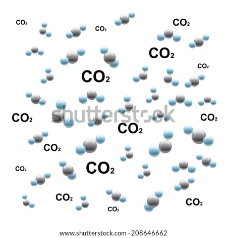 Carbon dioxide - stock vector