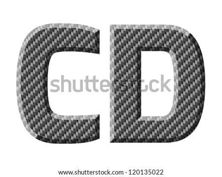 Carbon fiber capital letters. Vector illustration.