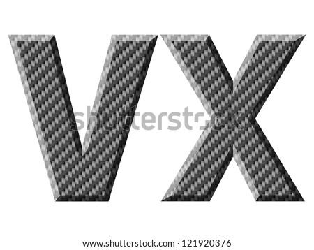 Carbon fiber capital letters. Vector illustration. - stock vector