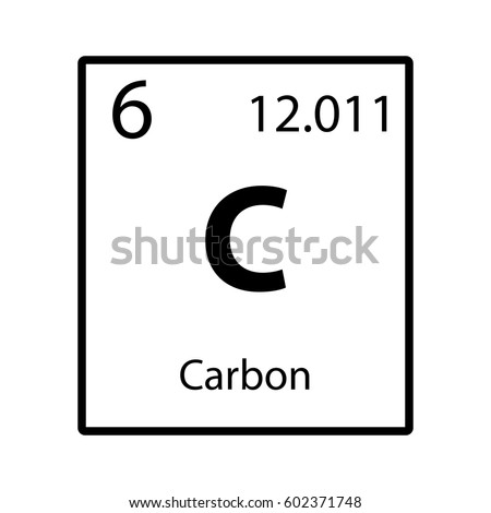 carbon periodic table element icon on white background vector - Periodic Table Carbon