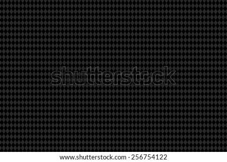 Carbon seamless pattern. Black rhombus chessboard pattern texture. Vector eps10 - stock vector