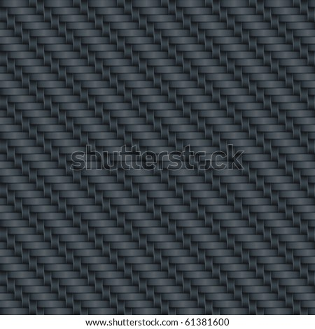 Carbon wicker background (editable seamless pattern) - stock vector