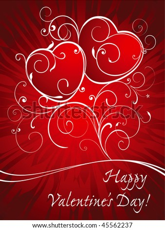 Card background for Valentine's day. - stock vector