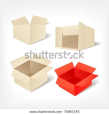 Card-boards vector set - stock vector
