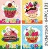 card cake - stock vector