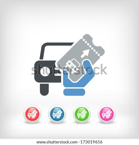 Card car icon - stock vector