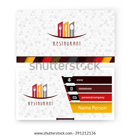 Card, Corporate identity for Restaurant - stock vector